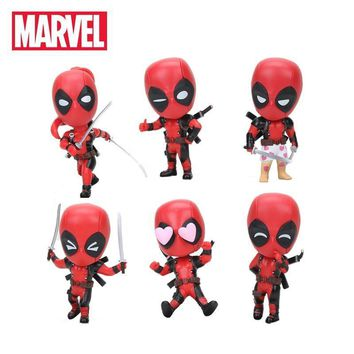 Deadpool Dead pool Taco New 10cm Marvel Toys  Figure Bobble-Head 1/10 Scale Painted Wade Winston Wilson Superhero Collectible Model Dolls Toy AT_70_6