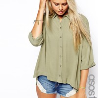 ASOS TALL Crinkle Oversize Blouse
