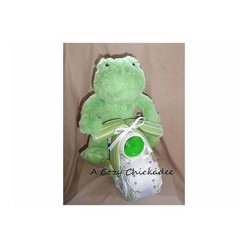 Frog Motorcycle Baby Diaper Cake