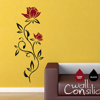 Blossom Wall Decal Flower Wall Sticker Flower by WallConsilia
