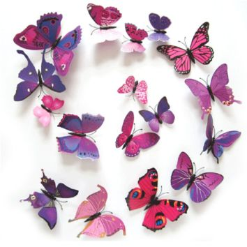 3D Magnetic Butterfly Wall Stickers