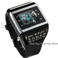 Q8 Watch Cell Phone Dual Sim 1.5 inch Touch Screen with Keypad TF Card Slot Camera MP3 MP4 Bluetooth Cellphone Colorful Panel