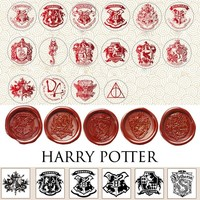 Cool Attack on Titan Delicate Sealing Wax Stamps Badge Blessing Twilight Harri Potter Hogwarts logo Star Wars  Totoro Wax Seal Stamp AT_90_11