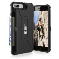 UAG iPhone 7 Plus [5.5-inch screen] Trooper Card Case [BLACK] Military Drop Test