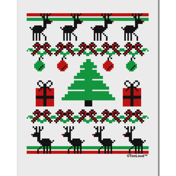 "Tree with Gifts Ugly Christmas Sweater Aluminum 8 x 12"" Sign"