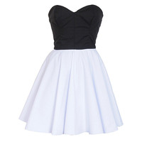 Black & White 50s Style Party Prom Dress | Style Icon`s Closet