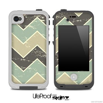 Vintage Tan V2 Chevron Pattern Skin for the iPhone 5 or 4/4s LifeProof Case