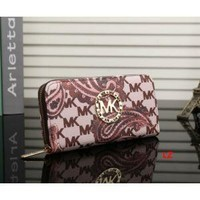 HOT NEW MICHEAL KOR CROSS PATTERN WALLET PURSE BAG MK30