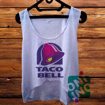 Taco Bell Logo crop tank Women's Cropped Tank Top