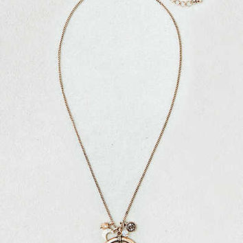 AEO Crescent Moon Charm Necklace , Gold