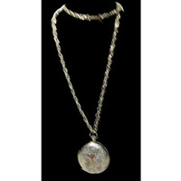 """Altered Art Up-cycled Vintage Locket - Ed hardy Design """"Love is a Gamble"""" Theme Necklace"""