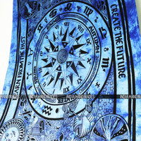 Life Watch Tie Dye Tapestry Diy Mandala Bohemian Hippie Wall Hanging Bedding