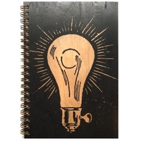 Wood Notebook Lightbulb Large
