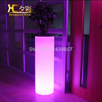 High Plastic LED Flower Floor Pot Color Changing