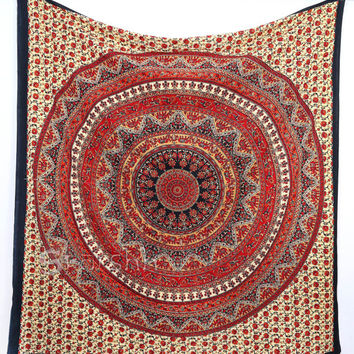 Star Tapestry, Hippie Mandala Tapestry Wall Hanging, Indian Bedspread Bed Sheet Cover Throw, Bohemian Boho Ethnic Home Decor Art