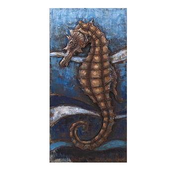 Mesmerizing Seahorse Dimensional Wall decor by IMAX