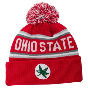 Ohio State Buckeyes NCAA Pocket Cuff Pom Knit