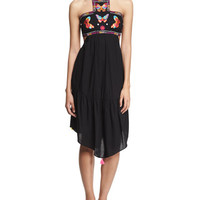 Bahia Embroidered-Butterfly Dress