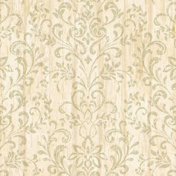 Brewster Wallpaper PUR44021 Reba Sand Country Faux Wood