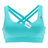 Blue LIXADA  Wire Free Run Sports Bra