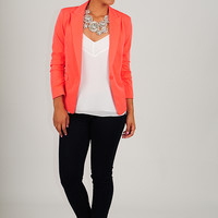 The Shelby Blazer: Neon Coral