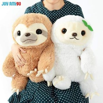 Namakemono No Mikke Sloth Plush And Monoko Sloth Soft Sleepy Animal Stuffed Toy Cushion Pillow Gift For Kids Friends 3 Sizes