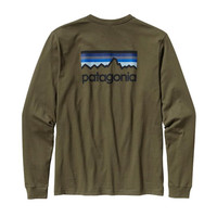 Patagonia Long Sleeve Line Logo T-Shirt- Fatigue Green