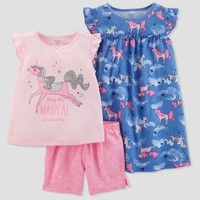 Baby Girls' 3pc Unicorn Pajama Set - Just One You® made by carter's Purple 18M