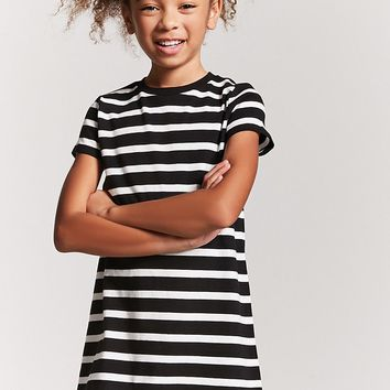 Girls Stripe T-Shirt Dress (Kids)