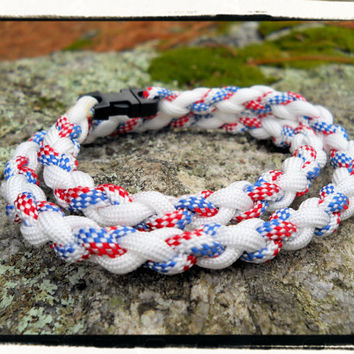 American Flag Survival Necklace