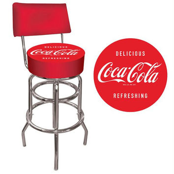 Coca Cola Vintage Pub Stool with Back