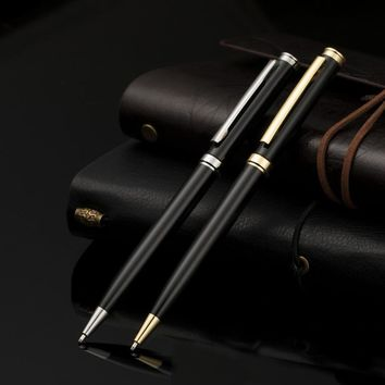 FGHGF 1.0mm black Metal Roller Ball Pen Luxury Ballpoint Pen For Business Writing Gift Office School Supplies