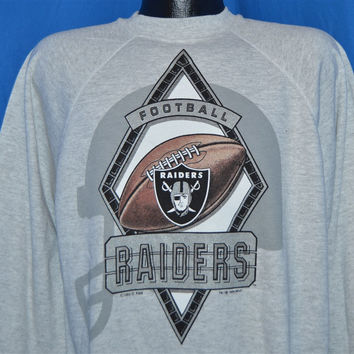 90s Oakland Raiders Crewneck Sweatshirt Extra-Large