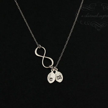 Infinity Necklace . Personalized Charm by ACharmedImpression
