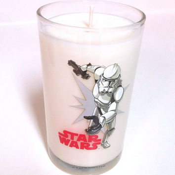 Star Wars Candle - Stormtrooper Soy Candle 8 oz Glass - Spiced Pumpkin