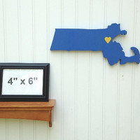 """Special Edition Boston Strong """"State Heart"""" wall art, benefitting Boston's One Fund"""