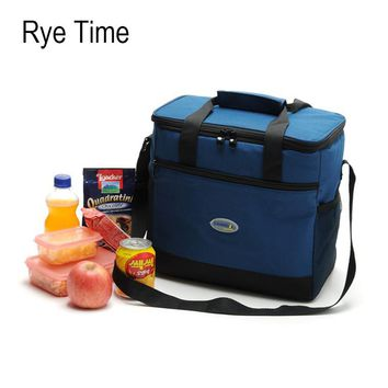 new branded cooler bag insulated big cool shoulder bag ice pack vehicle insulation bag lunch box food fresh bag thermo handbags