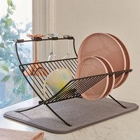 Umbra Xdry Folding Dish Rack + Mat | Urban Outfitters