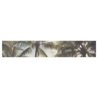 "Catherine McDonald ""Boho Palms"" Coastal Trees Table Runner"