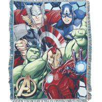 Marvel Avengers Assemble Group Woven Tapestry Throw