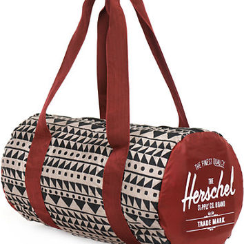 Herschel Supply Packable Chevron & Rust Duffel Bag