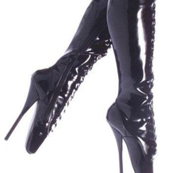 Pleaser Female 7 Inch Spike Heel Ballet Knee Boots BAL2020