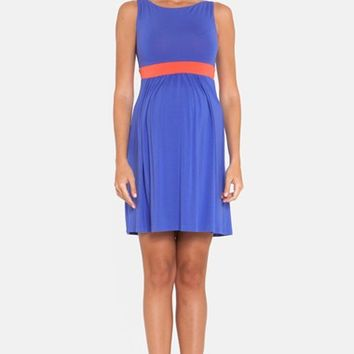 Women's Olian Colorblock Maternity Dress