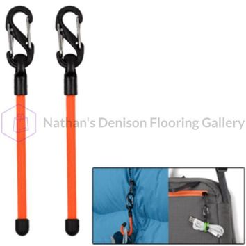 Nite Ize Gear Tie 3 Clippable Twist Tie - Bright Orange 2 Pack