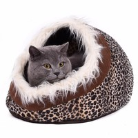 Removable Warm Pet Bed Lamb Cotton Dog Bed Pet Cat House Lovely Soft Cat Bed Cave Pet Products Animal Kennel With Hair 4 Colors