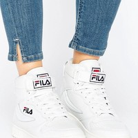 Fila Fx100 High Top Sneakers In White at asos.com