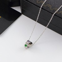 8DESS Bvlgari Women Fashion Crystal Chain Necklace