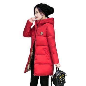 Trendy Long Parkas Female Women Winter Coat Thick Warm Cotton Hooded Basic Jacket Womens Winter Outerwear chaqueta mujer 2018 New AT_94_13