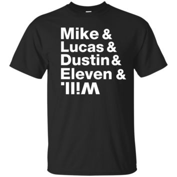 mike, lucas, dustin, eleven - stranger things T-Shirt