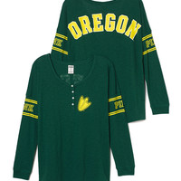 University of Oregon Long Sleeve Henley - PINK - Victoria's Secret